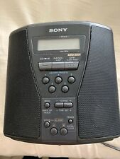 Sony CD Player Clock Radio Black FM AM Mega Bass Cube **tested**