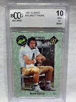 BRETT FAVRE Rookie Card BCCG GEM MT 10 1991 Classic #30 Draft Football Graded