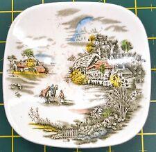 Johnson Bros Small Square Pin Dish or Trinket Dish, Beautiful Country Scenes
