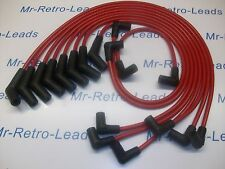 RED 8.5MM PERFORMANCE IGNITION LEADS FORD MUSTANG V8  65 - 73 COUGAR HEI CAP