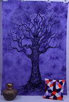arbre de vie Tapisserie Hippie Bohème Tenture Murale Couvre-lit Double
