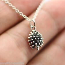 HEDGEHOG NECKLACE - 925 Sterling Silver Hedgehog Pendant Charm Jewelry Porcupine