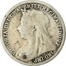 [#759432] Coin, Great Britain, Victoria, 3 Pence, 1898, VF(30-35), Silver