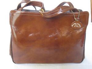 Vintage ETRA Genuine Leather Shoulder / HANDBAG w Adjustable Strap 1960s EUC
