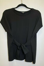 Express Black Front Tie Square Top