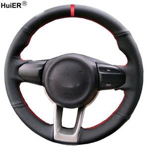 For Kia Rio K2 Picanto 2017 2018 Morning 2017 Hand Sew Car Steering Wheel Cover