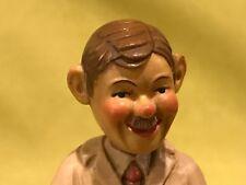Vtg wood carved dentist mischievous Jeckle/Hide doctor tooth pull sculpture art