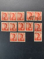 1962 HONG KONG  ,QUEEN ELIZABETH II , LOT OF 13 STAMPS 50C