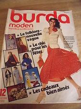 MAGAZINE BURDA MODENLE FOLKMORE NOUVELLE VAGUE    12/1980