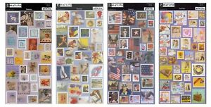 Pebbles Postage STAMP Style Cardstock Stickers 13x6  Baby/Holiday/USA/Celebrate