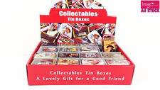 32Pcs Collectables Tin Boxes Fashion Jewelry Gift Rectangular Painting Card Bag