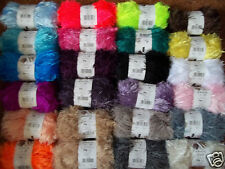 KING COLE MOMENTS FLUFFY EYELASH YARN DK KNITTING YARN TOY  ETC 24 COLOUR CHOICE