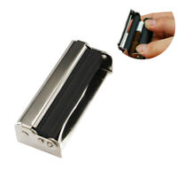 FJ- 70mm Metal Cigarette Rolling Machine Tobacco Maker Roller Hand Tool w/Cover