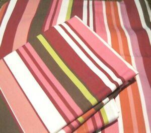 Set Pottery Barn Teen Twin Duvet Cover Set & Pillow Sham DOLCE STRIPE Pink Multi