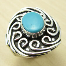 Turquoise Cheapest Shipping Ring Size Us 6.75 ! Silver Plated Fashion Jewelry