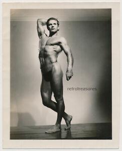 NUDE BEEFCAKE BODYBUILDER vtg 40s GAY MALE PHYSIQUE Mizer AMG photo ANDREW KOZAK