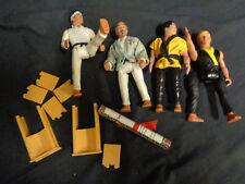 LOT OF (4) LOOSE VINTAGE KARATE KID REMCO ACTION FIGURES AND ACCESSORIES