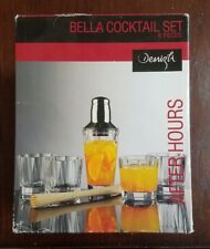 After Hours Bella Cocktail Set 6 Pieces Cocktail Shaker Crystal Glasses & more