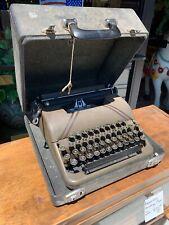 Vintage CORONA STERLING TYPEWRITER W/Case & Key Buttons Clean Restore Reuse Nice