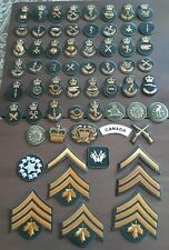 mixed lot of 62 collectible Canadian CANADA Military rank & other kind ofpatches