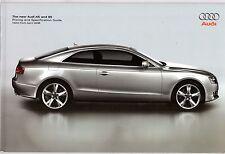 Audi A5 & S5 Coupe 2007-08 UK Market Sales Brochure 1.8T 3.2 FSi 2.7 3.0 TDi