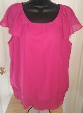 New York Clothing Co. Woman's Plus Pink Shirt Size 14/16W