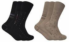 3 Pack Mens Non Binding Loose Top Antibacterial Anti Sweat Bamboo Dress Socks