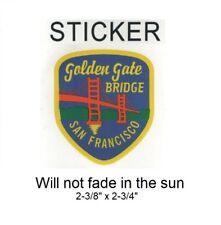 "San Francisco, California Vinyl Sticker - Will not fade, 2-3/8"" x 2-3/4"""