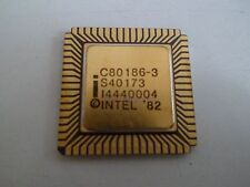 CPU Intel c80186-3 di 1984 8mhz 16bit 1mb 68-pin CERAMIC LCC * NUOVO *