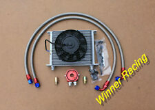 "HI-PERF 30 row oil cooler and hose filter relocation kit &7"" ELECTRIC FAN"