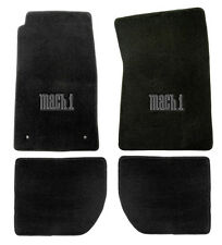 NEW 1965-1973 Ford Mustang Mach 1 Black Floor mats with Logo Set of 4 Carpet