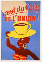 ON QUALITY CANVAS vintage print  retro art nouveau  coffee advertising painting