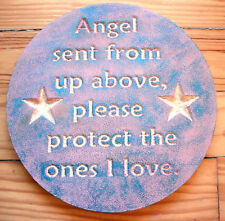Angel plaque plastic mold plaster concrete mould