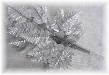 12 SILVER Artficial Metallic Fern Leaf Stem Anniversary