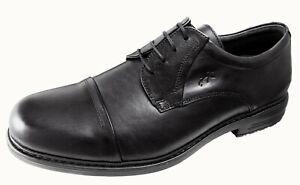Fluchos Chaussures De Porter Homme Avec Lacets Noir Cuir Simon Ref.8468