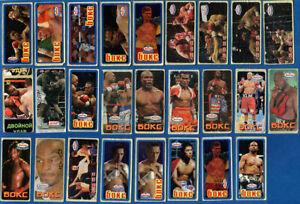 Michael Tyson / Lennox Lewis / Boxing 26 pcs. Chewing / Bubble Gum Stickers.