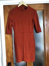 Topshop Burnt Orange Mini Dress 10 UK Wrap Side Slit Skirt Runway Celebrity