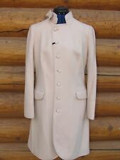 NEW NWT RED VALENTINO WOOL BLEND COAT in PALE CAMEL SIZE 8 US 46 EU