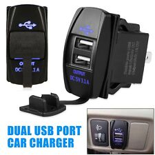 12-24V 3.1A Dual Led Usb Car Auto Power Supply Charger Port Socket Waterproof (Fits: Peugeot)