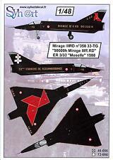 Syhart Decals 1/48 DASSAULT MIRAGE IIIRD 90,000 HOURS SPECIAL SCHEME 1988