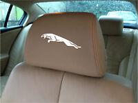 JAGUAR LOGO CAR SEAT / HEADREST DECALS - BADGE - Vinyl Stickers - Graphics X5