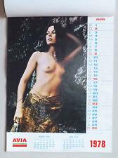 CALENDRIER AVIA - VINTAGE & PUBLICITAIRE  ANNEE 1978 AVEC PIN UP