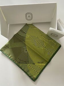 Rare Diptyque Eau De Minthe Print Silk Scarf