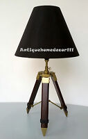 Home Decor Rusty Look Antique Lamp Shade Tripod Desk Table Bed Room Decorative