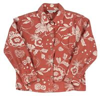 Fresh Produce Women's Floral Coral Pink Button Front Long Sleeve Jacket Size S