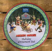 Jim Shore 5 Piece Mickey Mouse Disney Traditions Holiday Ornament Set RETIRED