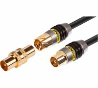 Monster Premium Dual Shielded Aerial Antenna Cable Gold Plated - 3m.