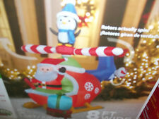 AIRBLOWN INFLATABLE Santa Clause Helicpoter moves   INFLATABLE 8' wide New
