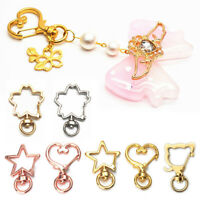 10Pcs Metal Snap Hook Lobster Clasps Keyring Keychain Bags Pendant DIY Craft