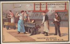 CHROMO CHOCOLAT GUERIN BOUTRON DIFFERENTE INDUSTRIES-FABRICATION DES MONNAIES-OR